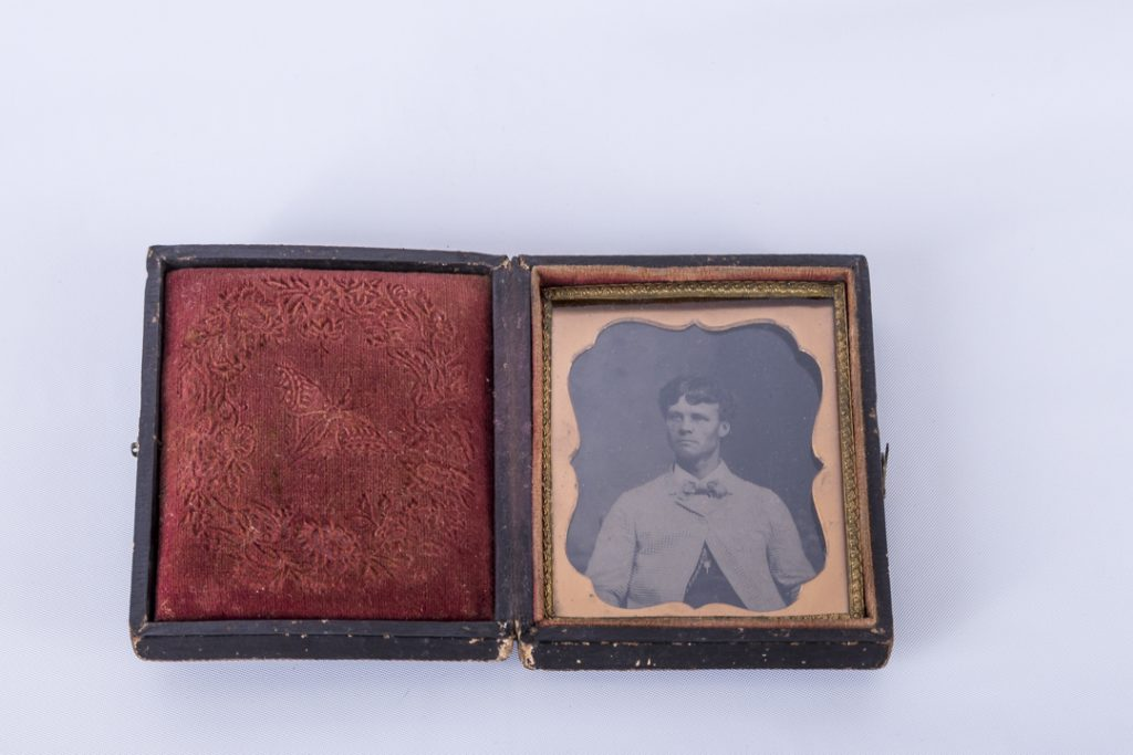 Vintage Tintype Photo Man in 3 Piece Suit and Pocket Watch