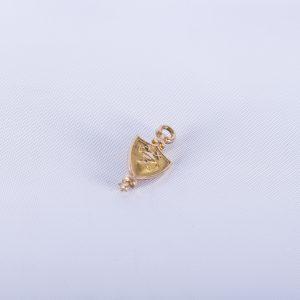 10K Solid Gold Alpha Chi Honor Society Award Lamp Pin - 1922 Vintage Fraternal