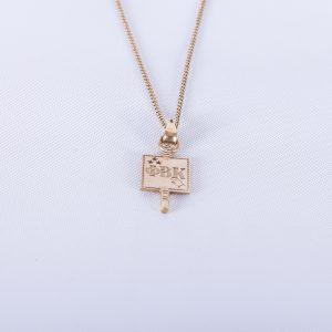 1942 Phi Beta Kappa charm with chain