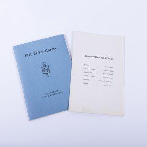 1953 UCLA Phi Beta Kappa Sorority Handbook Signed Letter Dean Paul A. Dodd 2