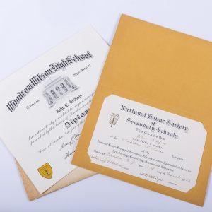 1957 Woodrow Wilson High School Diploma National Honors Camden New Jersey NJ 2