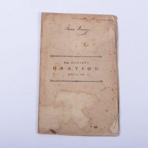 An Oration at Cambridge Phi Beta Kappa Timothy Bigelow 1797 Boston Law