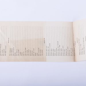 Antique Dartmouth College Ballot ~Most Popular, Most Likely to Succeed