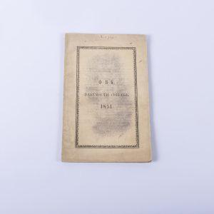 Dartmouth College Phi Beta Kappa Catalog 1851