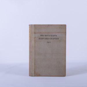 Harvard University Antique Phi Beta Kappa Chapter Catalogue 1912 3