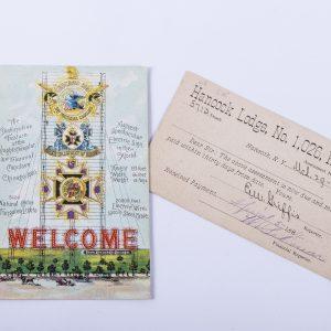 KNIGHTS of HONOR Secret Society TEMPLAR 1884 HANCOCK NY Lodge 1026 EAST BRANCH 2
