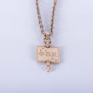 Phi Beta Kappa 10K Gold Harvard Key With GF Watch Chain, 1910 2