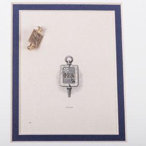 Phi Beta Kappa Key - 14k Gold Vintage Fraternity Pin 2