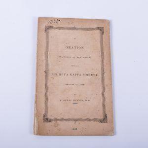 Phi Beta Kappa Oration 1842