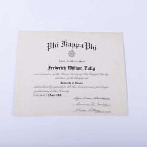 Phi Kappa Phi 1940 certificate