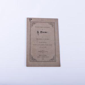 Yale College Poem Poetry New Haven 1869 Phi Beta Kappa George Dole Pamphlet