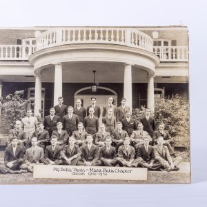 antique photo Amherst College Phi Delta Theta Mass Beta chapter house 1934-1938