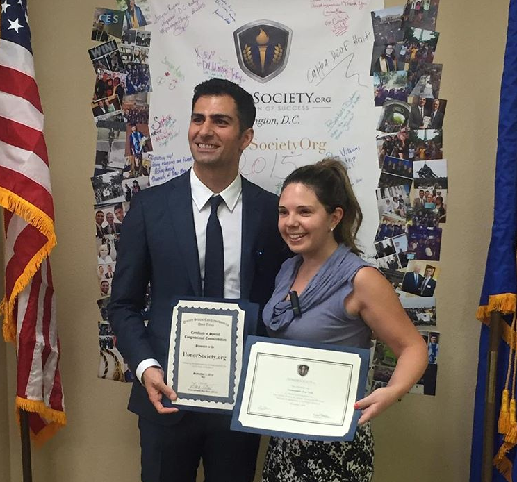 Mike Moradian at Honor Society Certificate Presentation